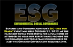 ESG - ARE YOU READY? Our event held on October 21, 2015
