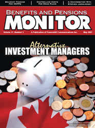 Benefits and Pensions Monitor - May 2007